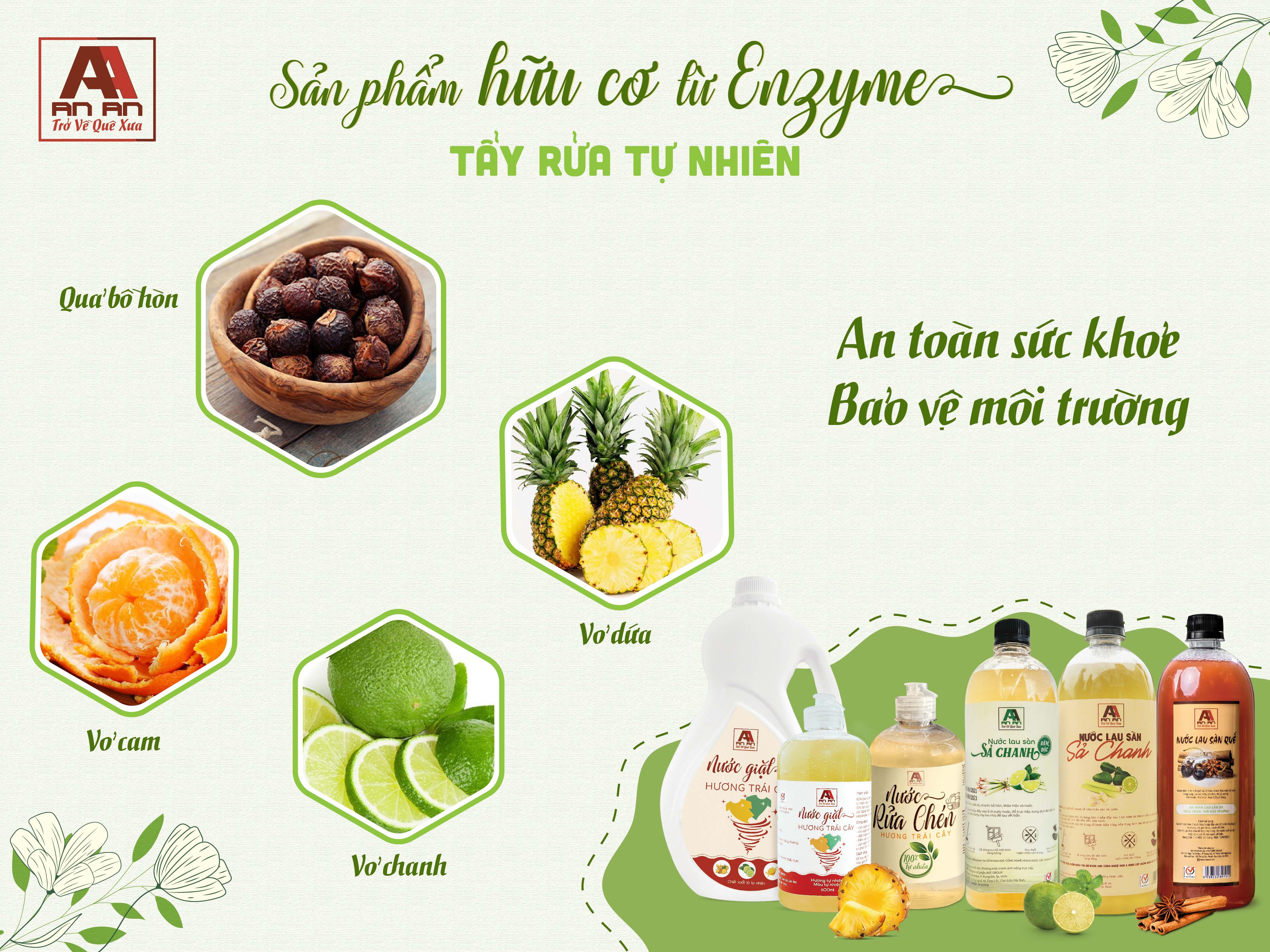Sản phẩm hữu cơ An An từ Enzyme tẩy rửa tự nhiên