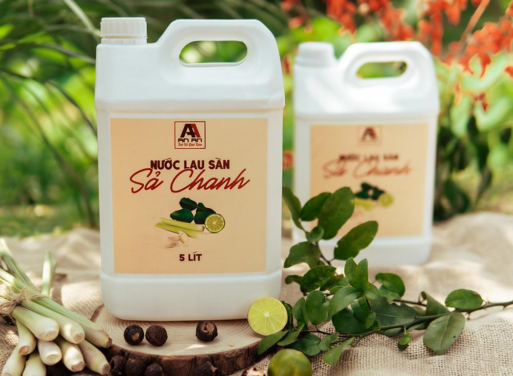 Can nước lau sàn sả chanh chiết xuất thiên nhiên, nhà sạch an toàn, tiết kiệm